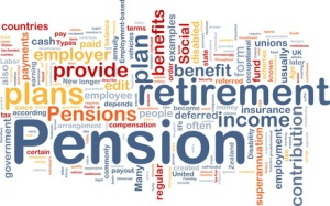 Pension background concept