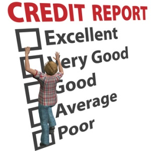 Credit report score rating