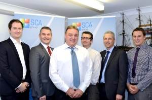 Group shot - Sean Matthews, Rob Jones and the SCA team