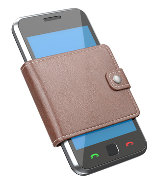 Mobile phone in the wallet
