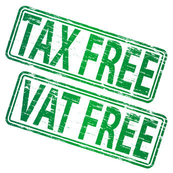 TAX FREE and VAT FREE grunge rubber stamps