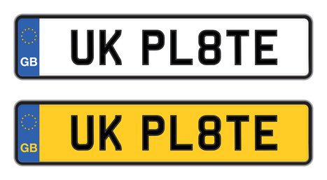 uk number plate