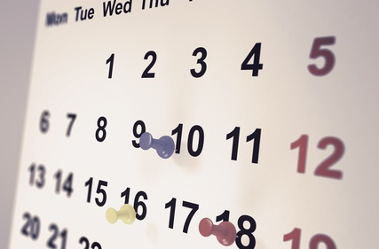Calendar with thubmjacks