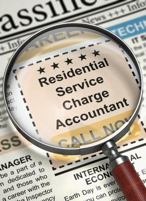 Residential Service Charge Accountant Hiring Now. 3D.